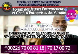 Fojeca 2017 : les jeunes entrepreneurs mettent le cap sur le Burkina Faso