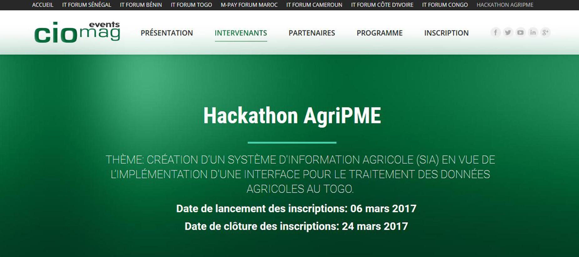 Togo : Les lauréats du Hackathon AgriPME sont primés