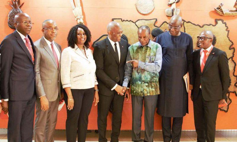 Alpha Condé reçoit Tony Elumelu