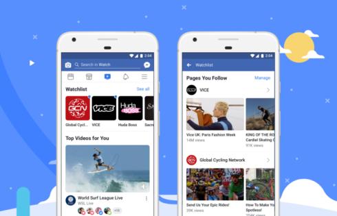 Facebook lance Watch, son service de diffusion de vidéo