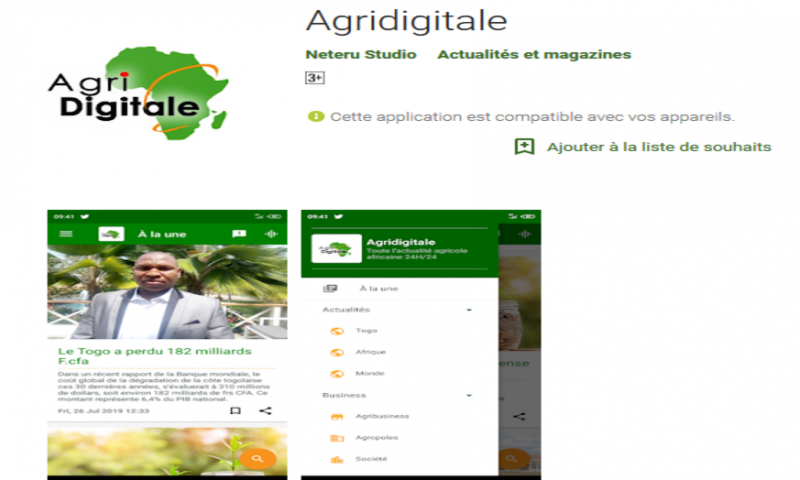 Le journal Agridigitale a son application mobile