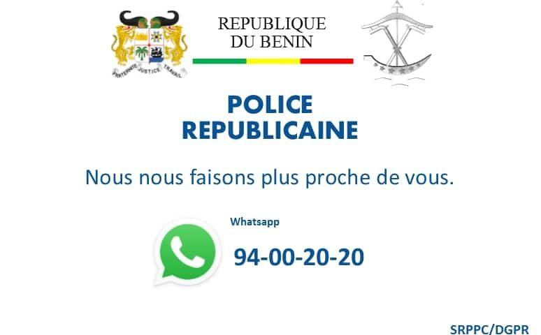 Bénin : La police républicaine s'invite sur WhatsApp