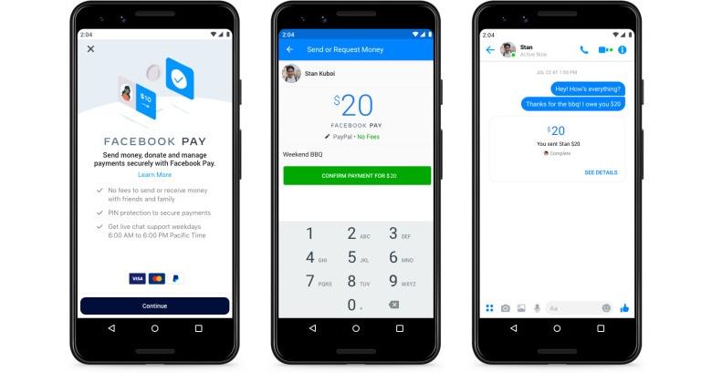 Facebook Pay, le nouveau système de paiement de Facebook