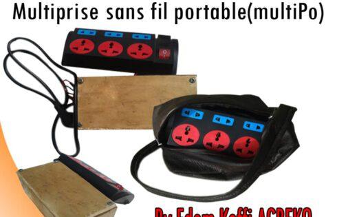 Le Togolais Edem Koffi Agbeko fabrique une Multiprise portable sans fil