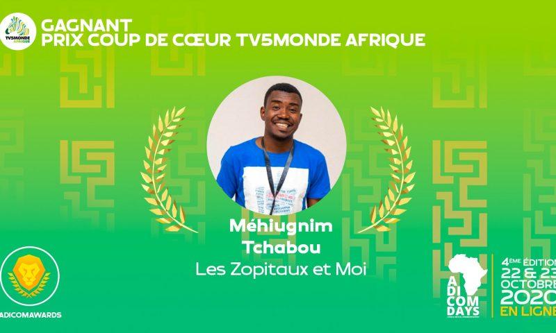 Le Togolais Achille Tchabou primé aux AdicomAwards 2020