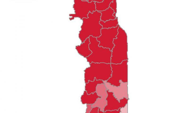 Togo/ Covid-19 : répartition des cas confirmés par région grâce à un graphique